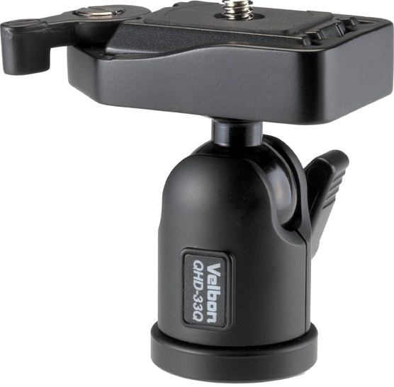 Velbon QHD-33Q Camera Ball Head With QB-3 Quick Release Plate