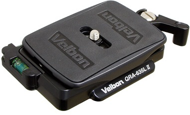 Velbon QRA-635L II Quick Release Adapter With Plate