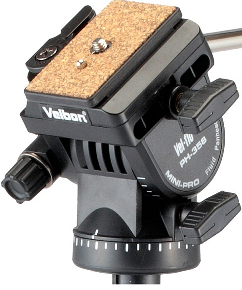 Velbon Videomate 538 Aluminium Tripod With PH-358 Fluid Head