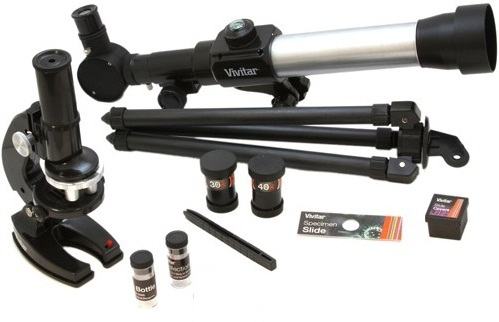 Vivitar TELMIC-20 Refractor Telescope With Microscope Kit
